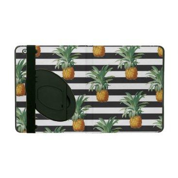 pineapples stripes grey iPad case
