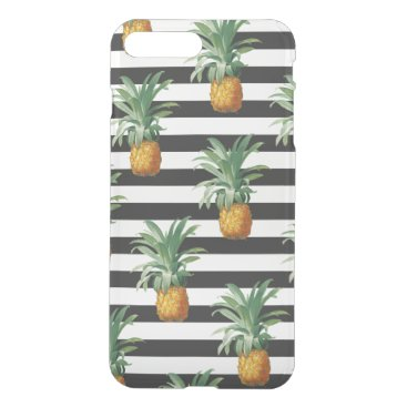 pineapples stripes grey iPhone 8 plus/7 plus case