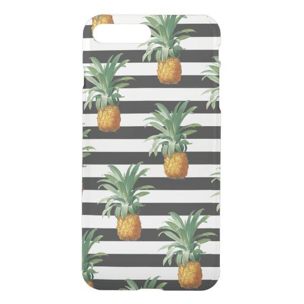 pineapples stripes grey iPhone 8 plus/7 plus case