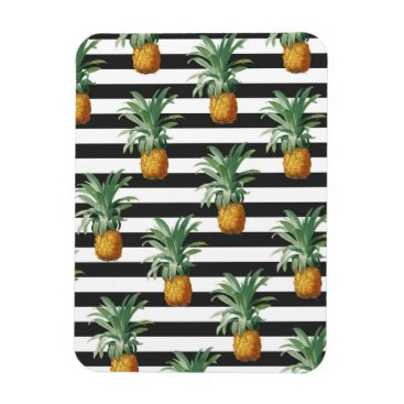 pineapples stripes grey magnet