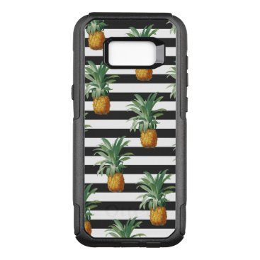 pineapples stripes grey OtterBox commuter samsung galaxy s8  case