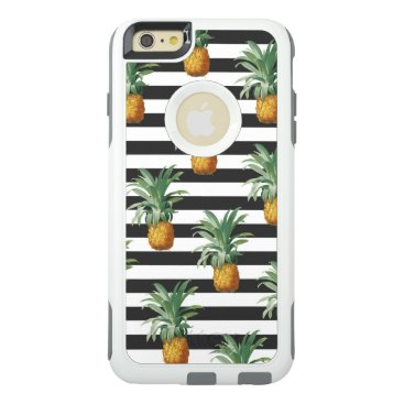 pineapples stripes grey OtterBox iPhone 6/6s plus case