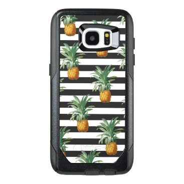 pineapples stripes grey OtterBox samsung galaxy s7 edge case