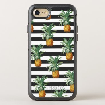 pineapples stripes grey OtterBox symmetry iPhone 8/7 case