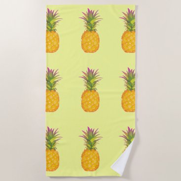 Pineapples - Tropical Beach Towel