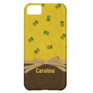 Pineapples Yellow Tropical Personalised iphone 5 Case For iPhone 5C