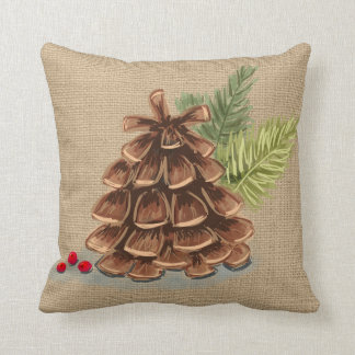 Pinecone, Berry and Pine Pillow Country