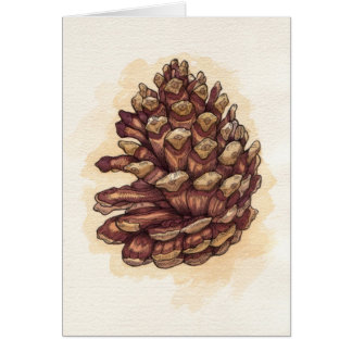 Pinecone Greeting Cards
