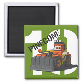 Pinecone Character Art 2 Inch Square Magnet