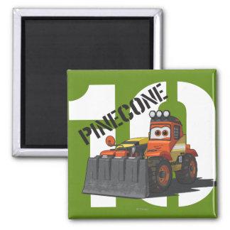 Pinecone Character Art Fridge Magnet