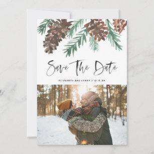 Vertical Holiday Party Save The Date