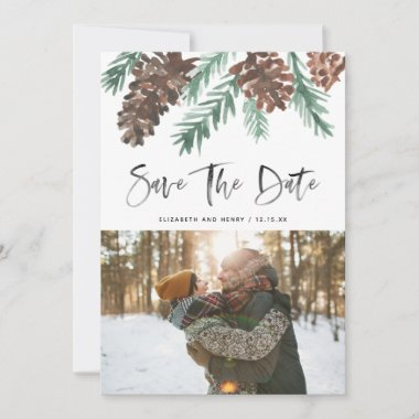 Pinecone Evergreen Save The Date