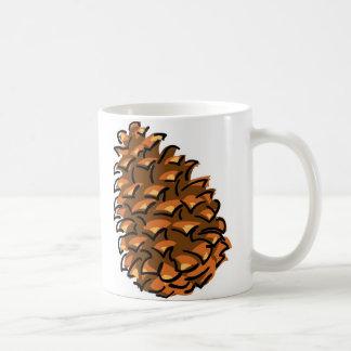 Pinecone grande taza básica blanca