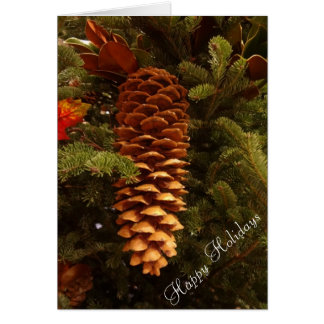 Pinecone Holiday Cards