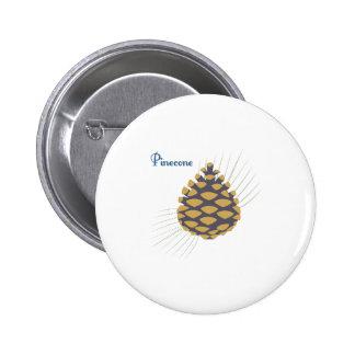 Pinecone Pin Redondo De 2 Pulgadas