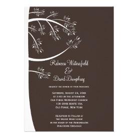 Pinecone Pine Tree Theme Wedding Invitation