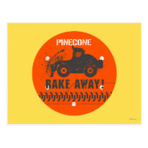 Pinecone Rake Away! Postcard