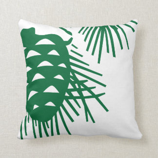Pinecone rustic throw pillow
