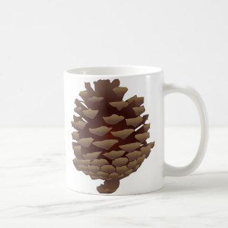 Pinecone rústico taza