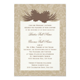 Pinecone Silhouette 5x7 Paper Invitation Card