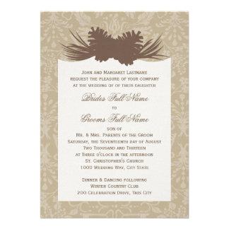 Pinecone Silhouette Invites