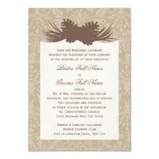 """Pinecone Silhouette 5"""" X 7"""" Invitation Card"""