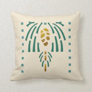 Pinecone Stencil Pillow