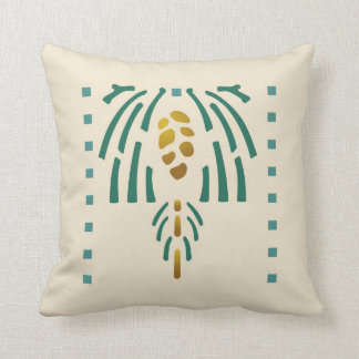 Pinecone Stencil Throw Pillow