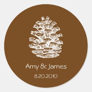 Pinecone Stickers
