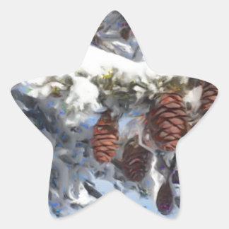 Pinecones 1 star sticker
