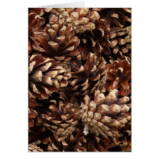 pinecones, allover greeting card