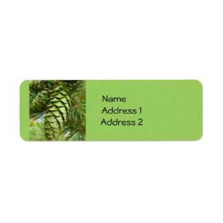 Pinecones Custom Labels