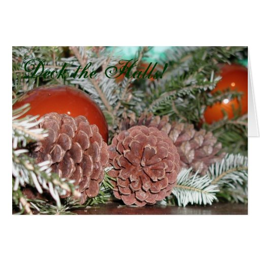 Pinecones en el navidad tarjeta de felicitación