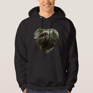 Pinecones in Snow Basic Hooded Sweatshirt