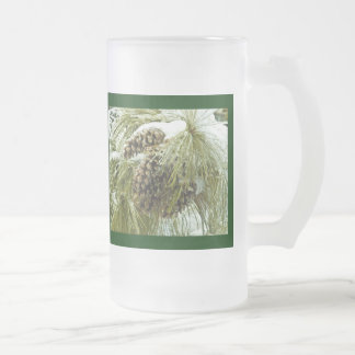 Pinecones in Snow Frosted  Mug