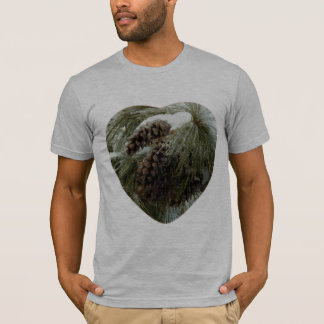 Pinecones in Snow Men's American Apparel Fitted T- T-Shirt