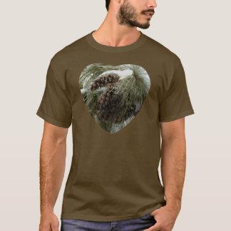 Pinecones in Snow Men's Basic American Apparel Dar T-Shirt