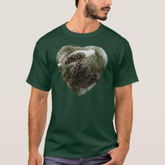Pinecones in Snow Men's Basic Dark T-Shirt