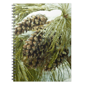 Pinecones in Snow Spiral Notebook