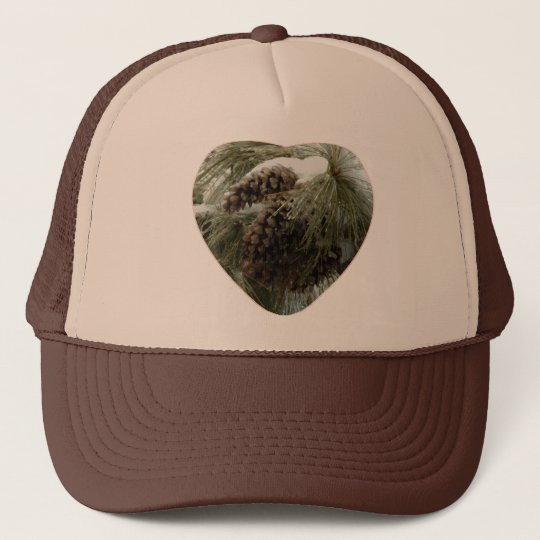 Pinecones in Snow Trucker's Cap