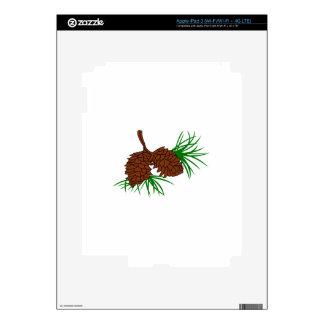 Pinecones Skin For iPad 3