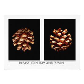 Pinecones wedding invite