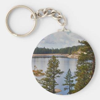Pinecrest Lake California in August Basic Round Button Keychain