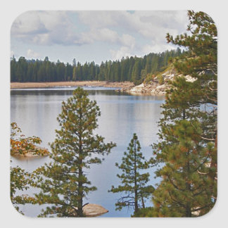 Pinecrest Lake California in August Square Sticker