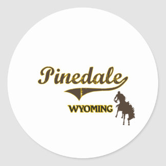 Pinedale Wyoming City Classic Classic Round Sticker