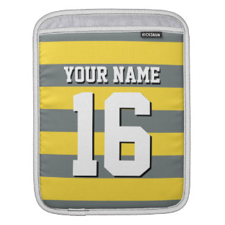 Pineeapple Charcoal Team Jersey Preppy Stripe Sleeve For iPads