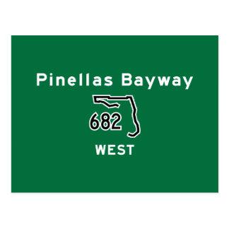 Pinellas Bayway 682 Postcard