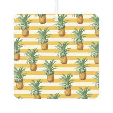 pinepples yellow stripes car air freshener