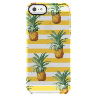 pinepples yellow stripes clear iPhone SE/5/5s case