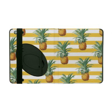 pinepples yellow stripes iPad cover